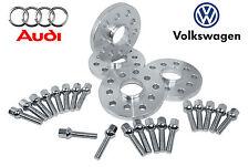 4 20MM & 30MM WHEEL SPACERS 20 LUG BOLTS VW JETTA AUDI A4 5X100 5X112 57.1