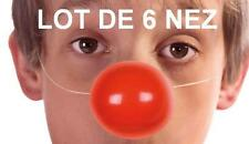 LOT DE 6 Nez de clown + ELASTIQUE accessoire déguisement Carnaval costume cirque