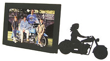 """Female Motorcycle Rider Picture Frame 3.5""""x5"""" - 3""""x5"""" H Girl Woman"""