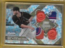 2016 Extra Elite Edition 1/1 Giants Clayton Blackburn 4 swatch Tag 2 Buttons