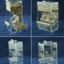 Clear Acrylic Parrot Bird Automatic Feeder Food Water Bowl Hopper Feeder Machine