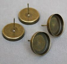 Pack of 10 Brass stud earring setting, resin base, ear studs, earstuds