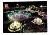 Postcard: Catalonia Square at night, Barcelona, Spain