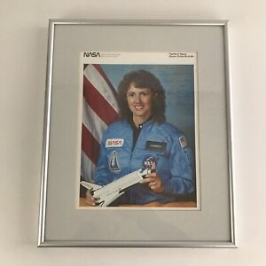 Christa McAuliffe NASA Astronaut Photo Signed by Mother Grace Corrigan Framed