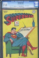 SUPERMAN #41 - CGC-7.0, OW-W - Superman vs Prankster