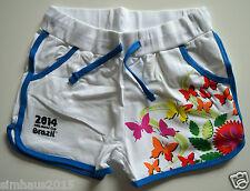 Niñas Pantalones Cortos Azul Blanco Mariposas Motif 122/128 6-8 años NUEVO