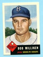 1953 Topps Archives #221 Bob Milliken - Brooklyn Dodgers