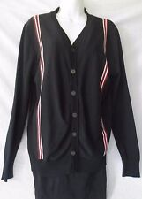 Gucci Black With Stripe Ladies Cardigan Sweater Size XL