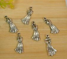 30pcs Tibetan silver dress beads pendants pendant necklace  21MM E3440