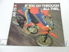 NOS 1978 ? Honda XR75 Motorcycle Dealer Brochure L474