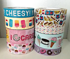 8 Pc. Doughnuts, Popsicle, Ice Cream, Tacos, Sprinkles, Cupcakes Washi Tapes