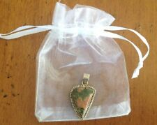 UNAKITE PENDANT SOLID .925 STERLING SILVER WITH FREE GIFT BAG & FAST SHIPPING!