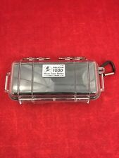 "PELICAN 1030 Micro Case Series Clear/Black w/Carabiner 6.5""x3""x2.5"" Waterproof"
