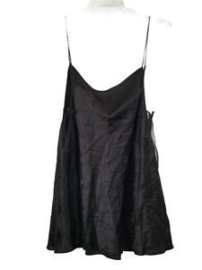 Victoria's Secret Women's Sz L Black SILK