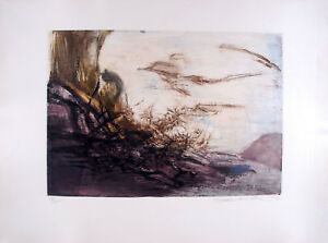 ZAO WOU-KI - Etching Signed Numbered and dated 1967 - Composition #172