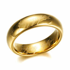 Lord of the Rings The One Ring LOTR Cosplay Fashion Birthday Ring Size 10 -f41