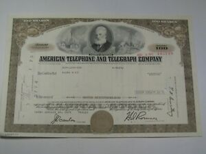 1971 American Telephone and Telegraph Company Stock Certificate.  #117