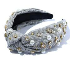 New listing Knot Headbands for Women Knotted Pearl Colorful Rhinestone, style 5, Size  QBt8