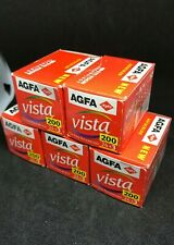 5x Agfa Vista 200  27 exp 35 mm expired film out of date