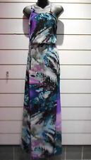Dress Fits XL 1X 2X Plus Green purple Maxi Land Mini Length Side Slits NWT DC105