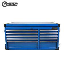 "TARGA 43"" 10 Drawer Tool Box MECHANICS TOOL CHEST Top Cabinet BLUE"