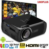 4K HD 1080P 3D LED Projector WiFi Bluetooth HDMI Home Theater Cinema Android HA