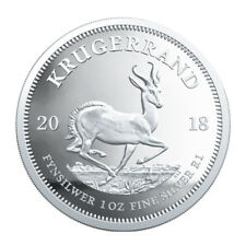South Africa, 2018 Krugerrand - 1oz Silver Coin, UNC