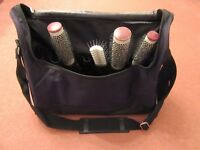 Black Hairdressing Hair Salon Tool Carry Travel Storage Equipment  Case Bag