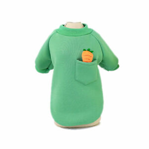 Pet Dog Cat Sweater Carrot Printing Pocket Sweatshirt Puppy Soft  Fleece Clothes