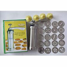 24 Shapes Cookie Biscuit Making Maker Pump Press Machine  -20 Moulds & 4 nozzles
