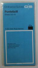 1969 old vintage OS Ordnance Survey 1:25000 First Series map SO 01 Pontsticill