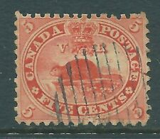 CANADA 1849 used 5c American Beaver stamp SG31