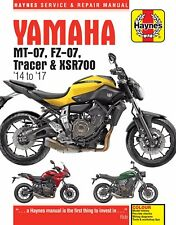 Yamaha MT-07, MT07 Tracer & XSR700 2014 - 2017 Haynes Manual 6385 NEW