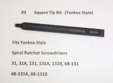 No. 2 Square Tip Bit  fits Stanley Yankee 31 131 68-131 Craftsman North Bros #2