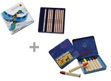 Stockmar crayones triangulares 12 unidades +1 lápiz wachsmalstifte 8 plumillas! nuevo!