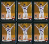 2019 Topps Now Pete Alonso Home Run Derby 6 Card RC Lot Gold Bonus #HRD-2B NYM