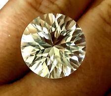 15.65 Ct Fantasy Round Brillian Cut Clear Or White Topaz Loose Gemstone
