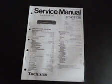 Original Service Manual Technics sintonizador st-gt630