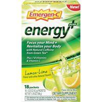 Emergen-C Energy+ (18 Count, Lemon-Lime Flavor) Dietary Supplement Drink Mix...