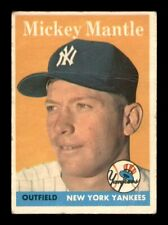1958 Topps Set Break # 150 Mickey Mantle GD Crease *OBGcards*