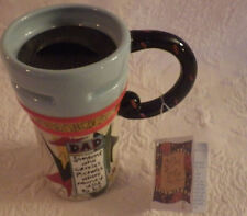 """Dad Coffee Mug Tea Cup """"Carry Pictures Where Money Used To Be"""" 6"""" New"""