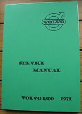 VOLVO P 1800 E  SE WORKSHOP MANUAL   BROCHURE 1800 1971