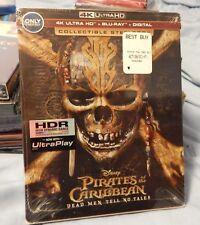 Pirates of the Caribbean Dead Men Tell No Tales 4K Ultra/Blu-ray DVD Steelbook