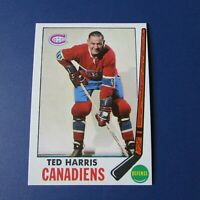 TED HARRIS  1969-70  TOPPS  # 2   Montreal Canadiens  1970   69-70   MINT