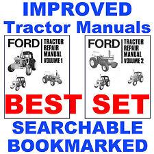 Ford 7610 Tractor Service Repair Shop Manual Amp Parts Amp Operators 5 Manuals Cd