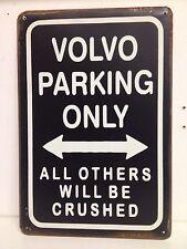 Volvo Parking Only Big Vintage Retro Metal Sign(30x40cm)
