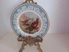 "Noritake China Cabinet Plate Pheasant Bird ""Polanaise"" (2045)  Beautiful Rare"