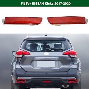 Left Right Side Rear Bumper Reflector Lights 1Pair For Nissan Kicks 2017-2020