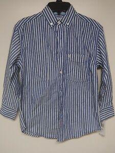 Womens Izod Button Down Shirt Blouse Size Small 8 Reg Sea Blue NWTS