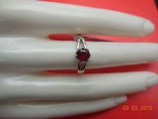 1.20ct MALAGASY RUBY STIRLING SILVER RING SIZE N-O